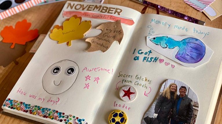 Keep a gratitude journal or scrapbook