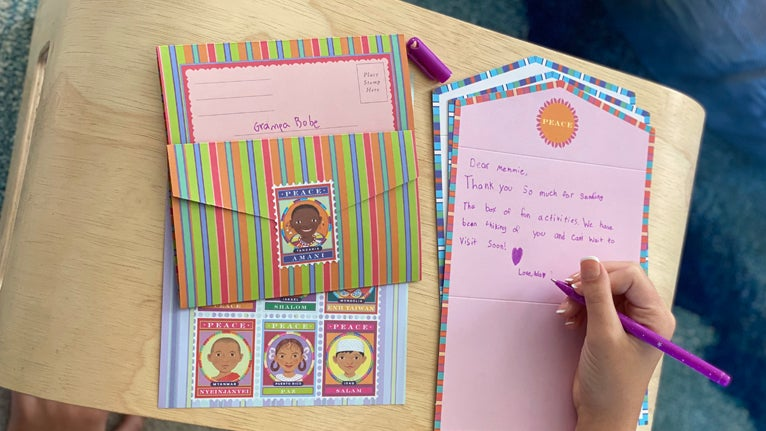 Write a thank-you note to the heroes in your community
