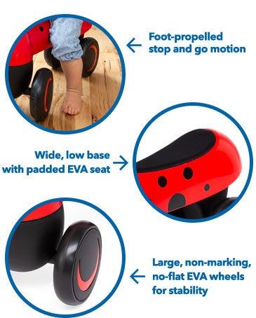 Foot to Floor Ladybug Ride-On
