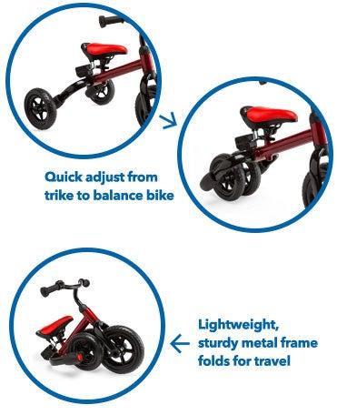 Folding Tricycle and Balance Bike