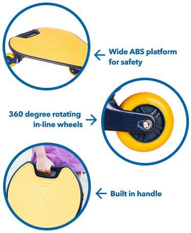Wiggleboard 3-Wheel Balance Board
