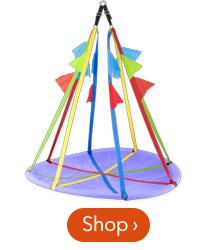 58 inch Rainbow Flag Swing