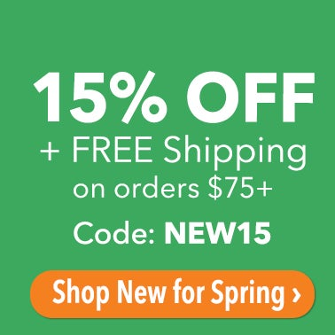 Sitewide 15% + Free Shipping on $75 use code: NEW15 shop New for Spring >