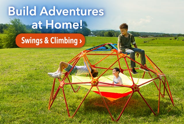 Build Adventures at Home! Shop Swimgs & Climbing >